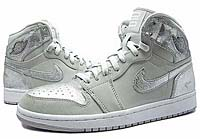NIKE AIR JORDAN 1 RETRO HIGH [GRAY/SILVER] (396009-001)