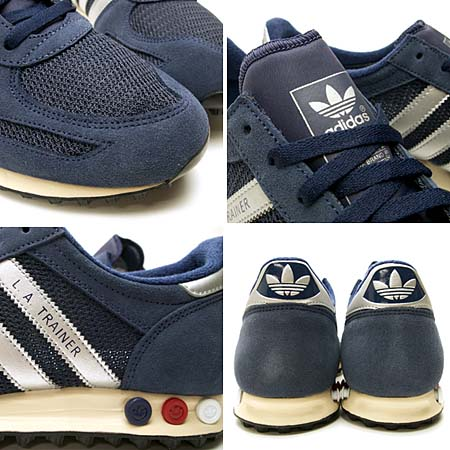 adidas L.A. TRAINER [NAVY/SILVER] 075975 写真2