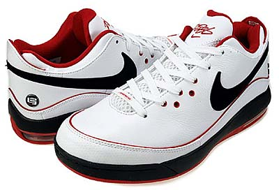 NIKE AIR MAX LEBRON 7 LOW [WHITE/BLACK-S.RED]