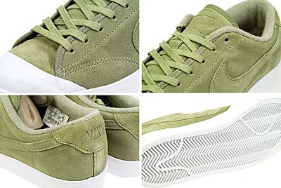 NIKE ALL COURT LEATHER LOW [DARK SAGE/DARK SAGE-WHITE] 写真1