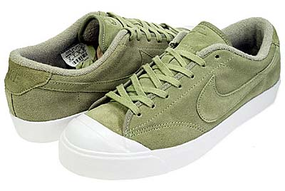 NIKE ALL COURT LEATHER LOW [DARK SAGE/DARK SAGE-WHITE]