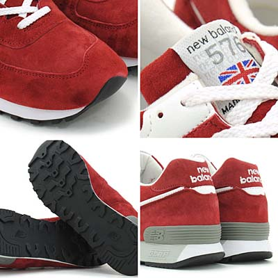 new balance M576 GRS [RED SUEDE] 写真1