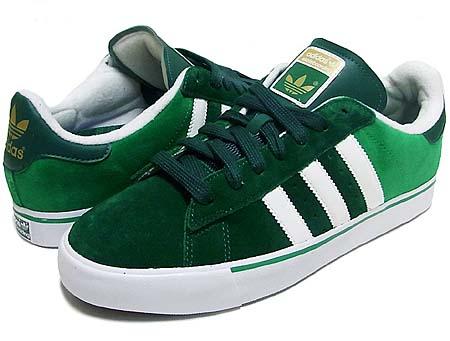 adidas SKATEBOARDING CAMPUS VULC [DARK GREEN/FRWY-WHITE] G24873