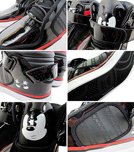 adidas × Disney adi-RISE MICKEY X [BLACK/BLACK-WHITE-RED] G48942 写真1