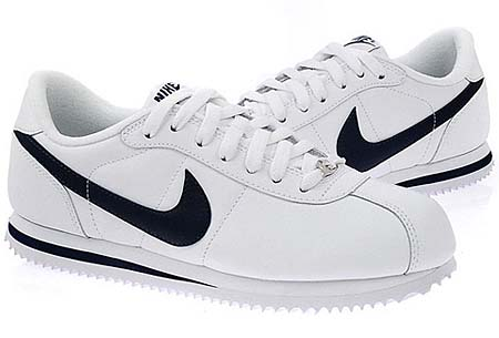 NIKE NIKE CORTEZ BASIC LEATHER 06 [WHITE/MID NIGHT NAVY] 316418-143 画像