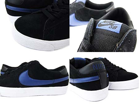 NIKE BLAZER LOW SB CS [BLACK/BLUE RECALL] 318960-001