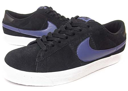 NIKE NIKE BLAZER LOW SB CS [BLACK/BLUE RECALL] 318960-001 画像