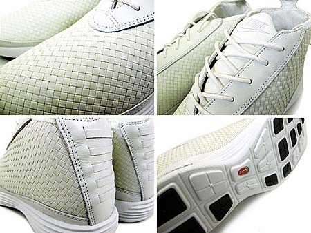 NIKE LUNAR CHUKKA WOVEN+ [SUMMIT WHITE/SUMMIT WHITE-BLK] 398475-101