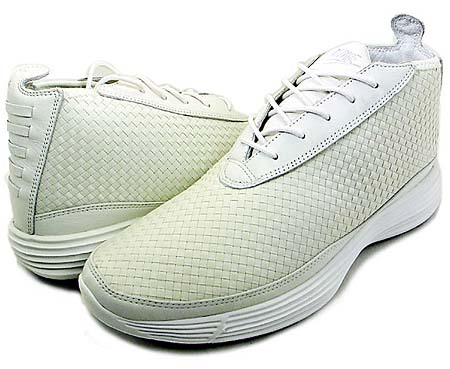 NIKE NIKE LUNAR CHUKKA WOVEN+ [SUMMIT WHITE/SUMMIT WHITE-BLK] 398475-101 画像