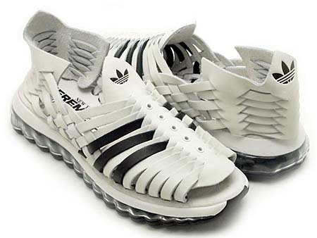 adidas OBYO Jeremy Scott JS MEGA SOFT CELL SANDALS [WHITE/BLACK] V22821