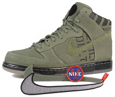 NIKE NIKE DUNK HIGH PREMIUM QS [NBA 2012 ALL-STAR GAME PACK|ROGUE GREEN/BLACK] 503766-300 画像