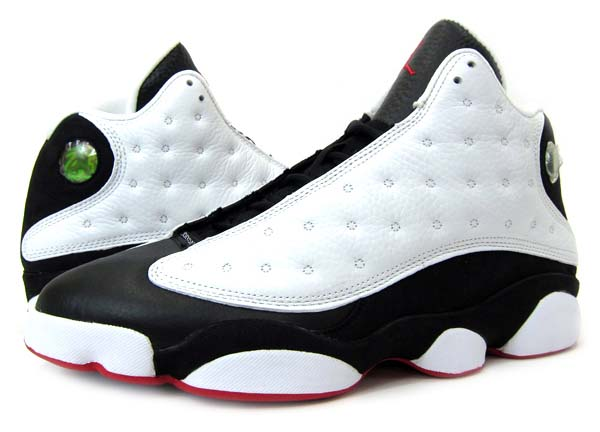 NIKE AIR JORDAN 13 RETRO [WHITE/BLACK/TRUE RED] 309259-104