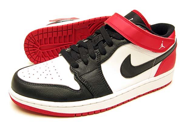 NIKE AIR JORDAN 1 STRAP LOW [WHITE/BLACK-GYM RED] 574420-101