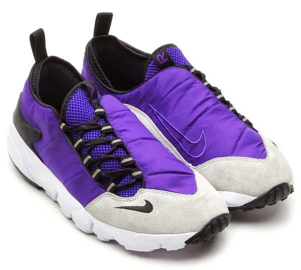NIKE AIR FOOTSCAPE MOTION [COURT PURPLE/BLACK-PURE PLATINUM/WHITE] 599470-501