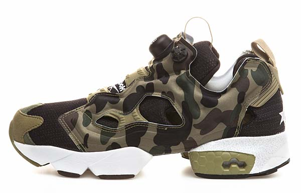 Reebok x A BATHING APE x mita sneakers INSTA PUMP FURY OG [CAMO/WHT] V61765