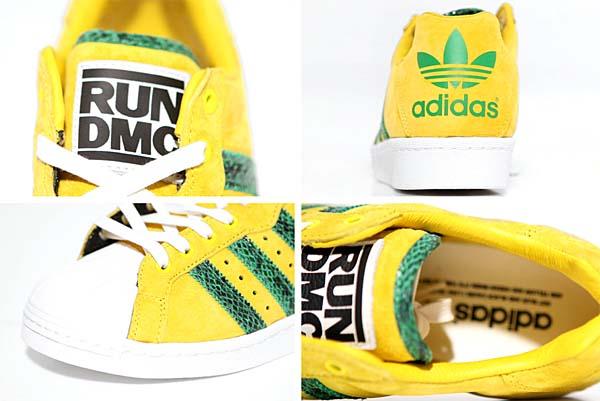 adidas x RUN DMC ULTRASTAR 80s [YELLOW / GREEN / CHALK WHITE] M25317