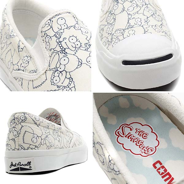 CONVERSE JACK PURCELL THE SIMPSONS SLIP-ON [WHITE] 32261980 写真2