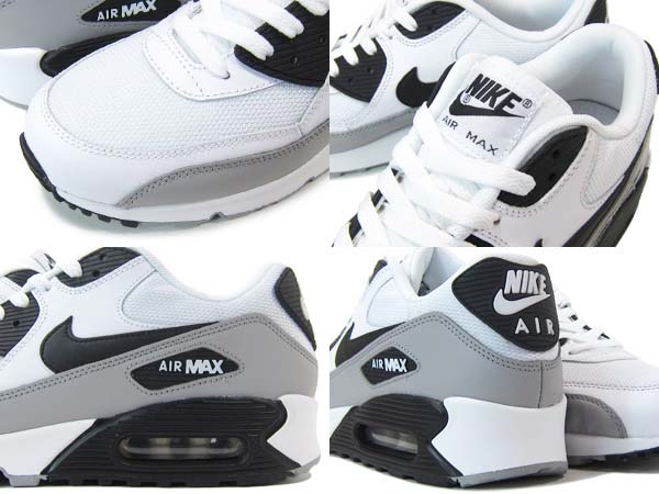 NIKE AIR MAX 90 ESSENTIAL [WHITE/BLACK] 537384-110