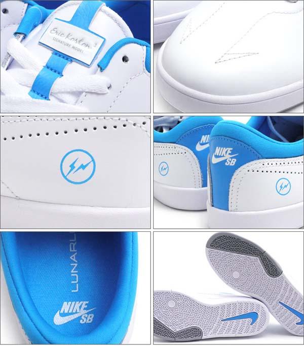 NIKE SB x Fragment Design ERIC KOSTON 1 [WHITE/WHITE-BLUE HERO] 628983-114