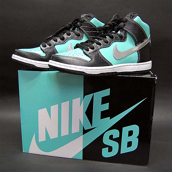 NIKE DUNK HIGH PREMIUM SB TIFFANY [AQUA/CHROME-BLACK] 653599-400