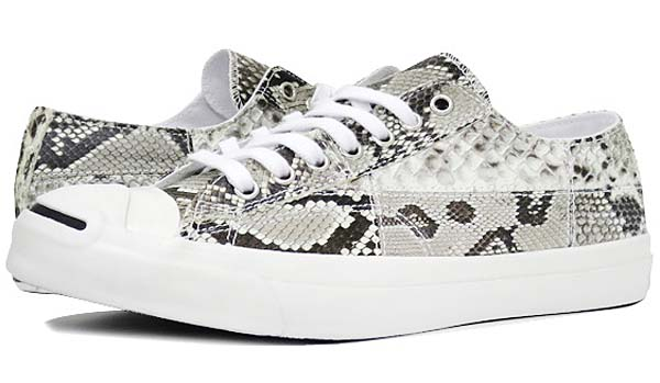 CONVERSE JACK PURCELL NATURAL PYTHON LEATHER [WHITE/BLACK] 32242450