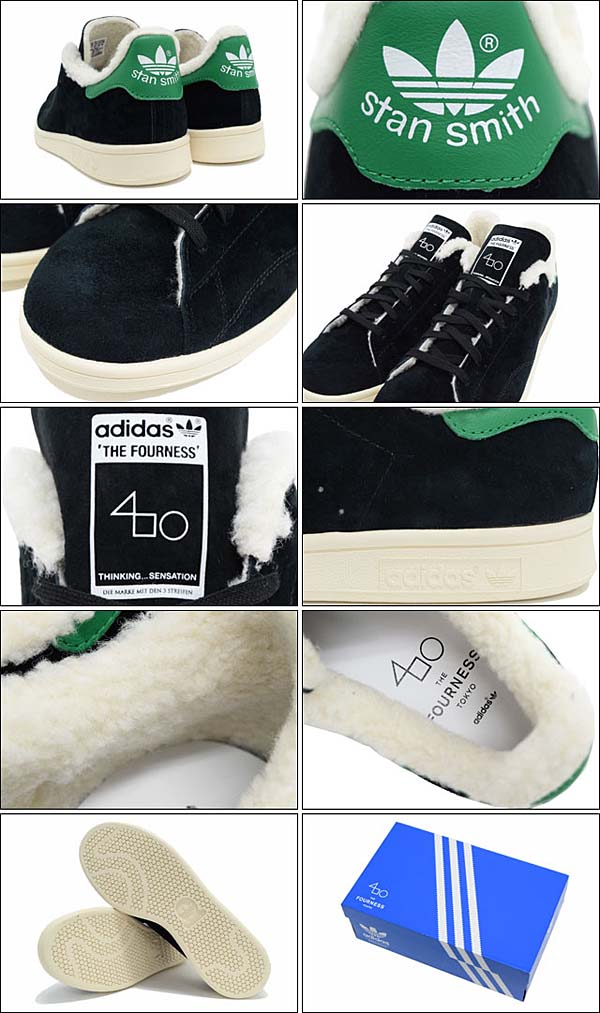 adidas x The Fourness STAN SMITH FUR [CORE BLACK / CHALK WHITE] S77877