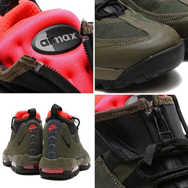 NIKE AIR MAX 95 SNEAKERBOOT [DRK LDN / BLK-CRG KHK-BRGHT CRMSN] 806809-300