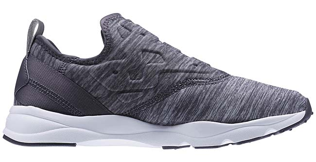 Reebok FURY LITE SLIP ON JERSEY [ASH GREY / WHITE] AR3047