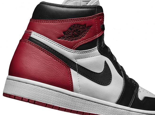 NIKE AIR JORDAN 1 RETRO HIGH OG BLACK TOE [WHITE / BLACK / VARSITY RED] 555088-125