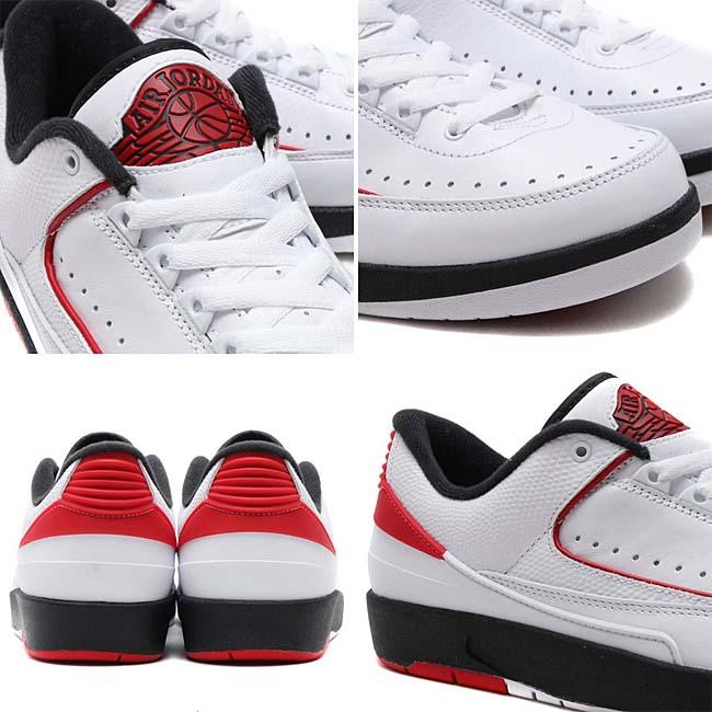NIKE AIR JORDAN 2 RETRO LOW [WHITE / VARSITY RED-BLACK] 832819-101