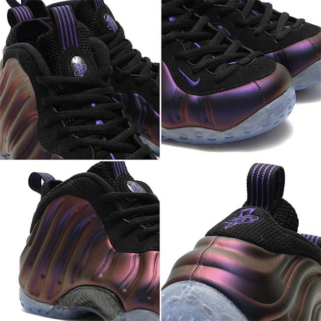 "NIKE AIR FOAMPOSITE ONE ""Eggplant""[BLACK / VARSITY PURPLE-VARSITY PURPLE] 314996-008"