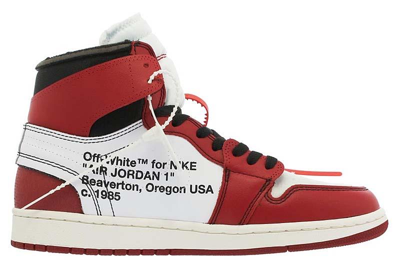 """NIKE x Virgil Abloh (OFF-WHITE) AIR JORDAN 1 RETRO HIGH OG """"The Ten"""" [WHITE / BLACK / VARSITY RED] aa3834-101"""