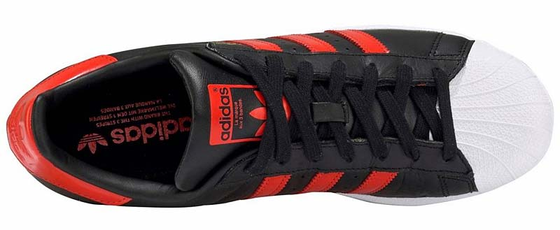 adidas SUPERSTAR [CORE BLACK / BOLD ORANGE / RUNNING WHITE] b41994 アディダス スーパースター 「ブラック/レッド」