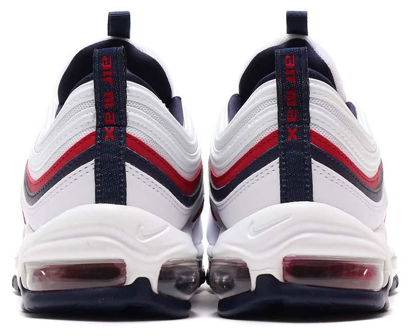 NIKE AIR MAX 97 [WHITE / RED CRUSH-BLACKENED BLUE] 921733-102 ナイキ エアマックス97 「ホワイト/レッド/ネイビー」