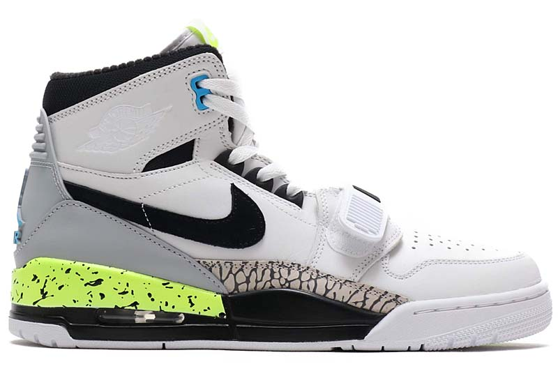 NIKE x Don C AIR JORDAN LEGACY 312 NRG [WHITE / BLACK-VOLT-VIVID BLUE] AQ4160-107