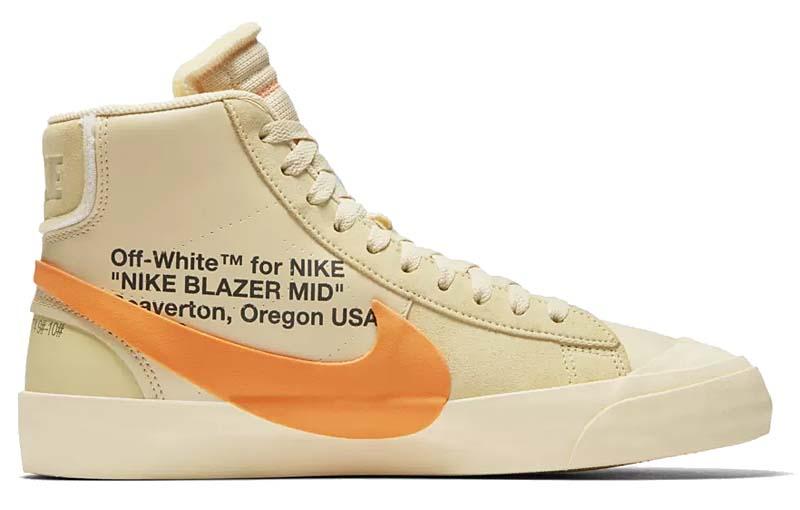 NIKE x Virgil Abloh (OFF-WHITE) BLAZER MID THE TEN [CANVAS / TOTAL ORANGE] aa3832-700 ナイキ × ヴァージル・アブロー (オフホワイト) ブレザー ミッド ザ・テン 「ベージュ/オレンジ」