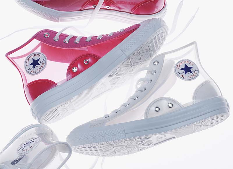 CONVERSE ALL STAR LIGHT CLEARMATERIAL HI WHITE 31300441 コンバース オールスター ライト クリアマテリアル ハイ ホワイト