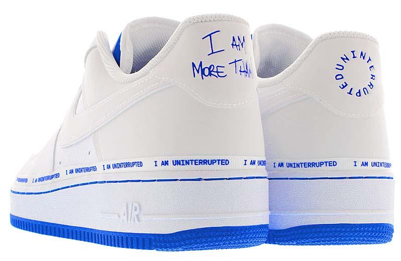"UNINTERRUPTED x NIKE AIR FORCE 1 LOW QS "" MORE THAN "" WHITE / RACER BLUE CQ0494-100 アンインターラプティッド × ナイキ エア フォース 1 ロー QS モアー・ザン ホワイト/ブルー"