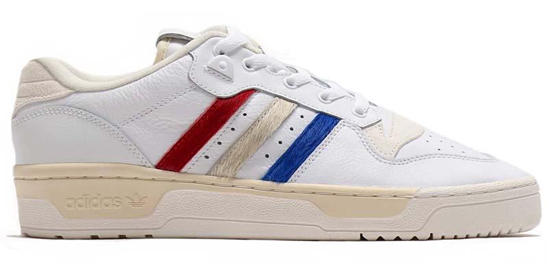atmos x adidas Originals RIVALRY LOW RUNNING WHITE / CREAM WHITE / CLOUD WHITE EE4961 アトモス × アディダス オリジナルス ライバルリー ロー ホワイト/レッド/ブルー