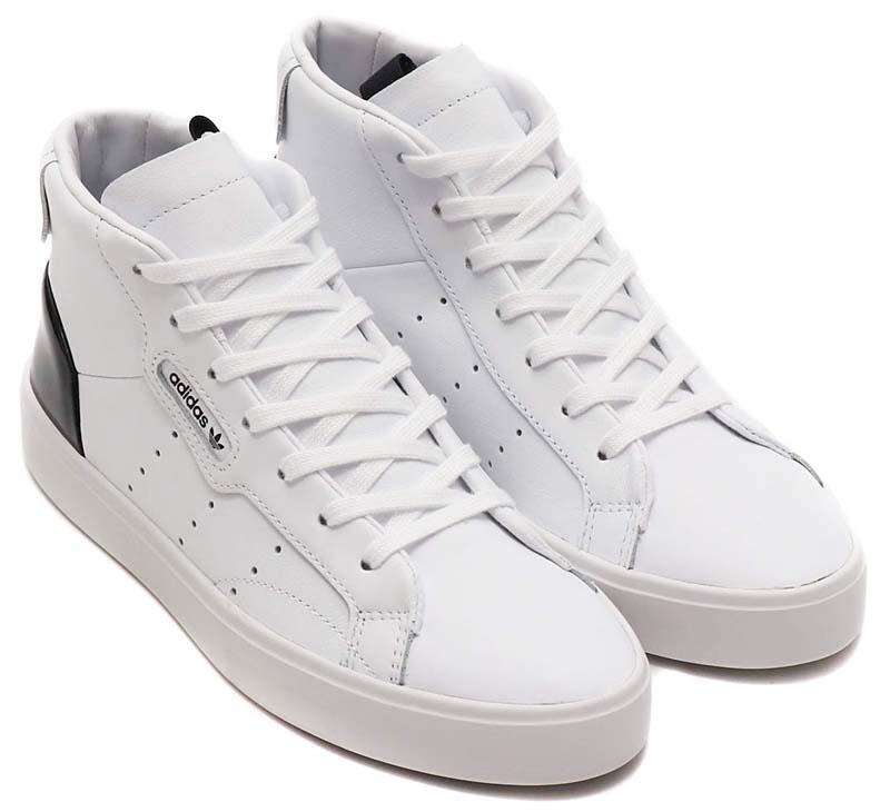 adidas Originals SLEEK MID RUNNING WHITE / RUNNING WHITE / CORE BLACK EF0701 アディダス オリジナルス スリーク ミッド 「ホワイト/ブラック」