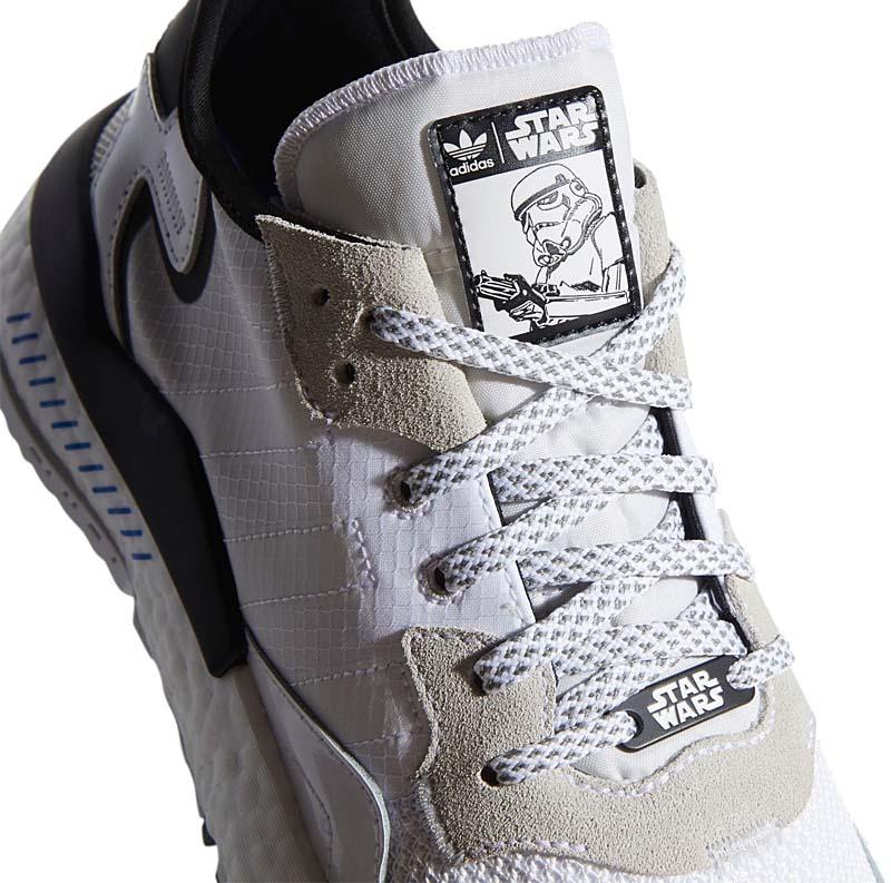 "adidas Originals NITE JOGGER STAR WARS "" Stormtrooper "" CLOUD WHITE / CLOUD WHITE / CORE BLACK FW2287 アディダス オリジナルス ナイトジョガー スターウォーズ ストームトルーパー ホワイト/ブラック"