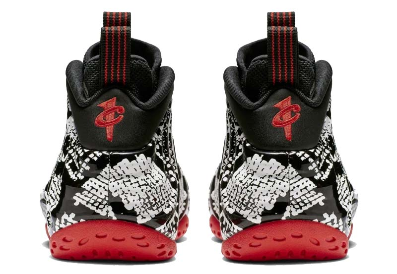 "NIKE AIR FOAMPOSITE ONE ""SNAKESKIN"" SAIL / BLACK-HABANERO RED-BLACK 314996-101 ナイキ エア フォームポジット ワン スネークスキン 「ホワイト/ブラック/レッド」"