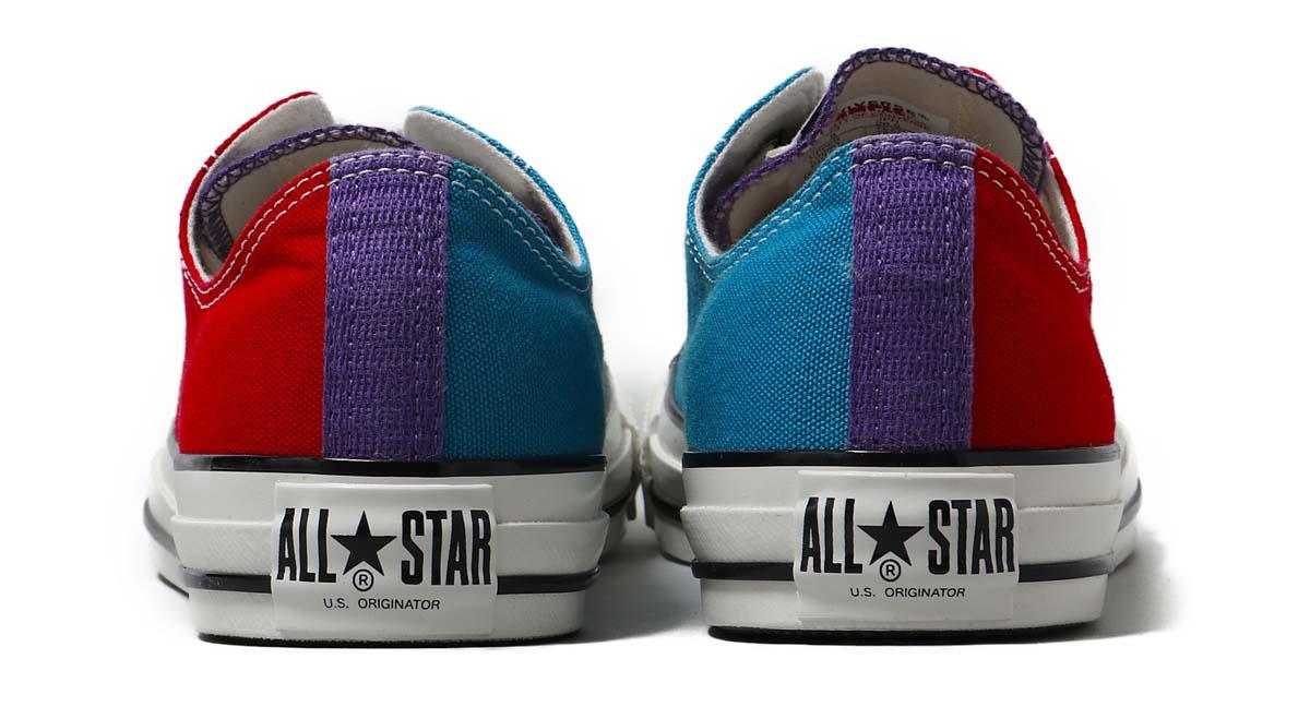 CONVERSE ALL STAR US CC OX [コンバース オールスター US CC OX] 31302131 CHERRY / PURPLE / EMERALD レッド/パープル/ブルー