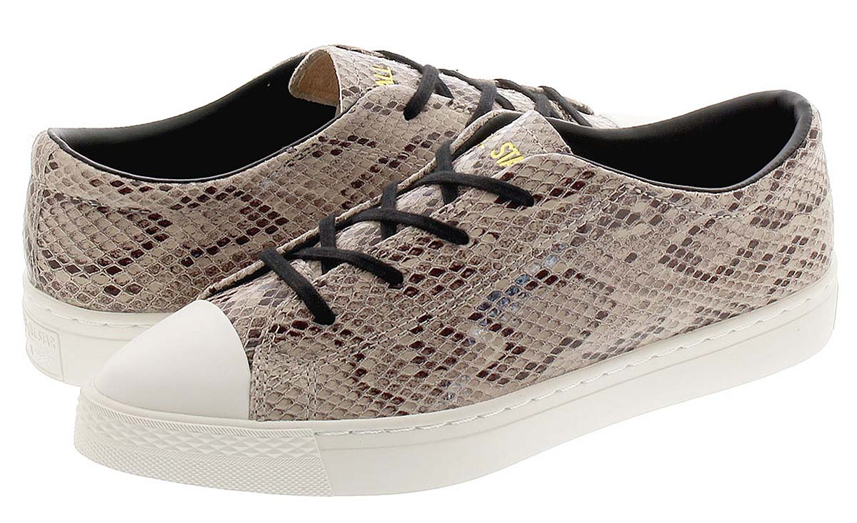 CONVERSE ALL STAR COUPE POINTUE SNK OX BEIGE SNAKE 31302860 コンバース オールスター クップ ポワンテュ SNK OX ベージュ/スネーク