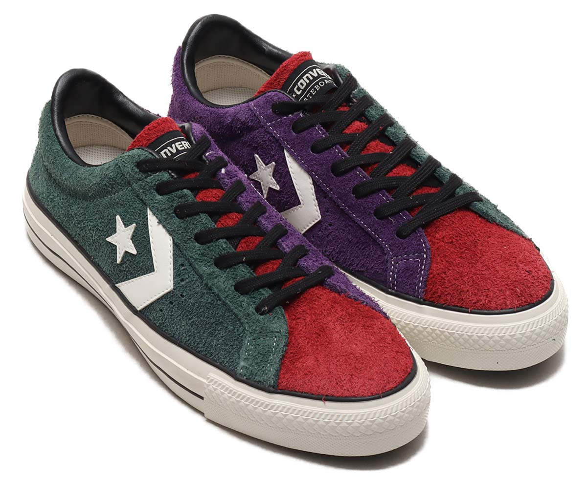CONVERSE PRORIDE SK OX+ GREEN / RED / PURPLE 34200430 コンバース プロライド SK OX+ グリーン/レッド/パープル