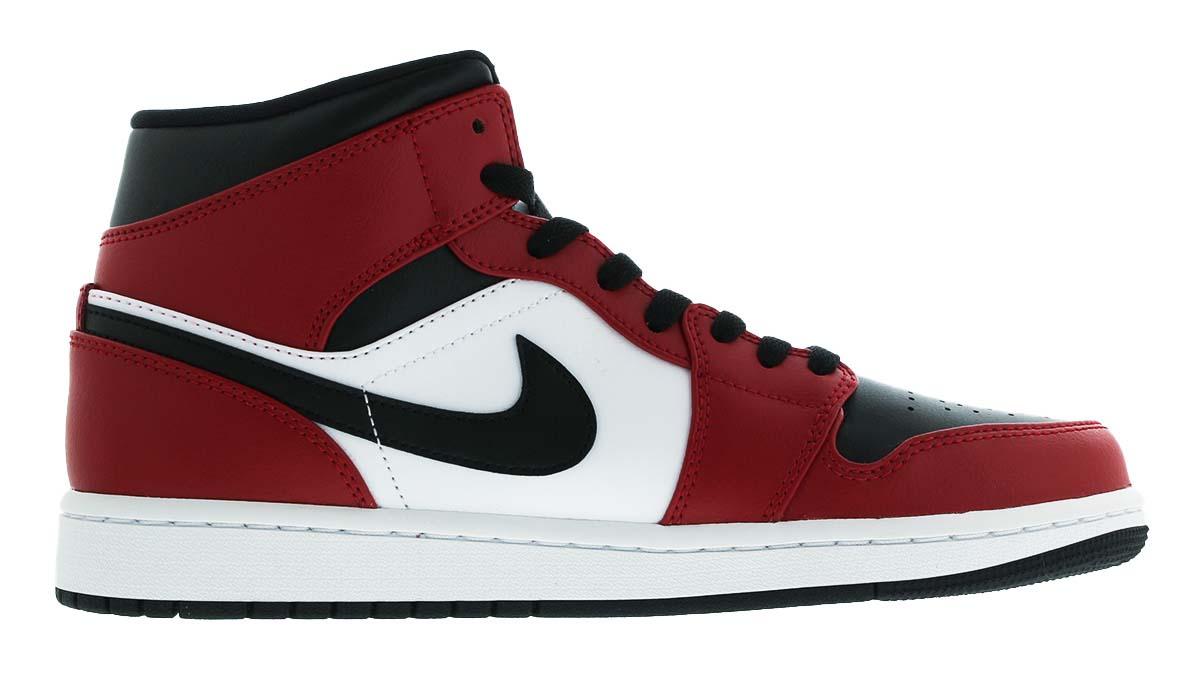 NIKE AIR JORDAN 1 MID CHICAGO BLACK TOE BLACK / GYM RED-WHITE 554724-069 ナイキ エアジョーダン1 ミッド シカゴ・ブラック・トゥ ブラック/レッド/ホワイト