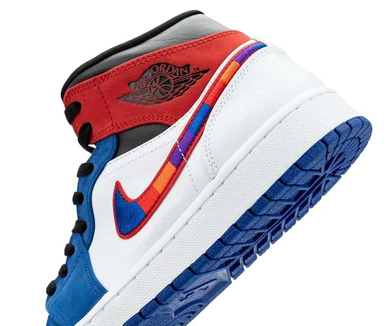 NIKE AIR JORDAN 1 MID SE WHITE / UNIVERSITY RED / BLUE / BLACK 852542-146 ナイキ エアジョーダン1ミッド SE ホワイト/レッド/ブルー/ブラック