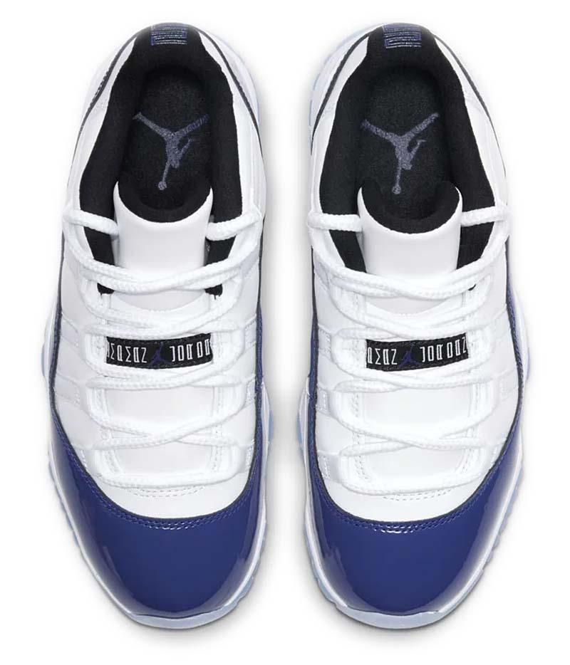 NIKE AIR JORDAN 11 LOW RETRO WHITE / BLACK-CONCORD AH7860-100 ナイキ エアジョーダン11 レトロ ホワイト/ブルー