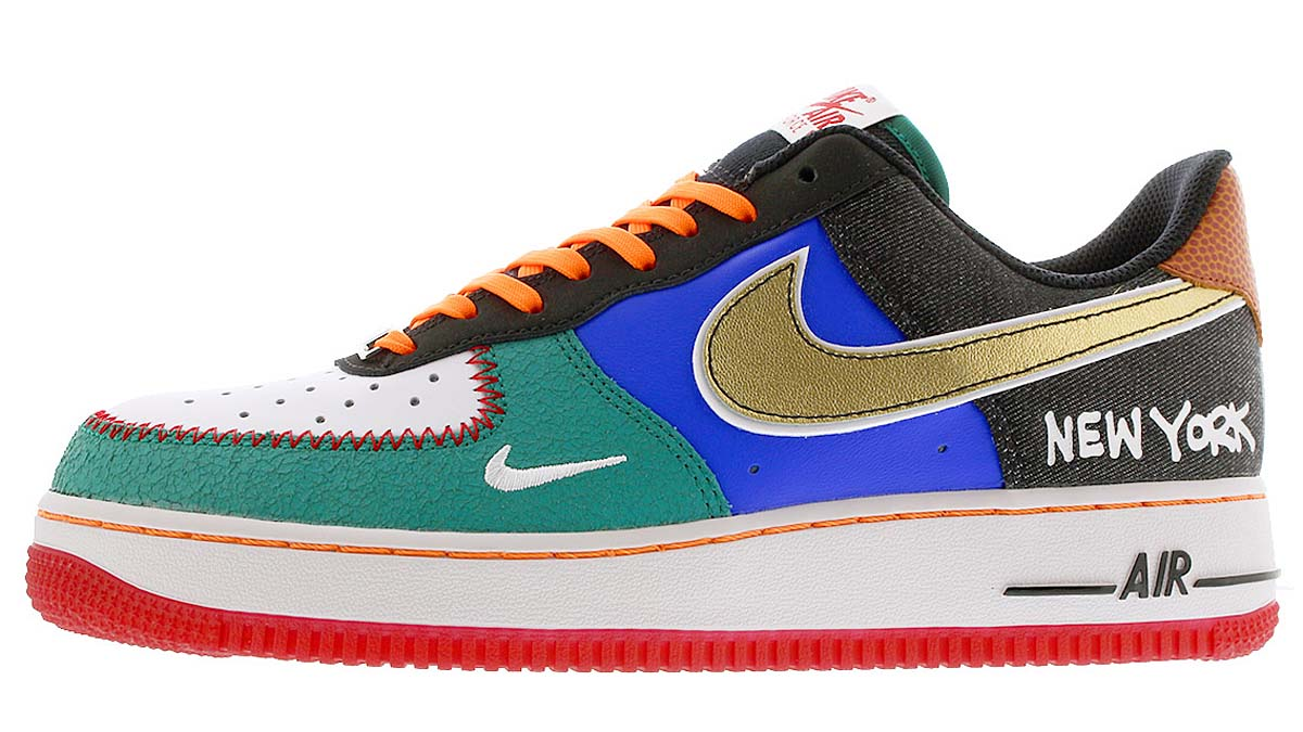 """NIKE AIR FORCE 1 07 LV8 """" WHAT THE NYC"""" WHITE /BLACK / TOTAL ORANGE-RACER BLUE CT3610-100 ナイキ エア フォース 1 07 LV8 WHAT THE NYC ホワイト/ブラック/オレンジ/ブルー"""