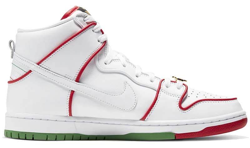 "NIKE SB DUNK HIGH PRO "" MEXICAN BOXING"" WHITE / VARSITY RED-WHITE CT6680-100 ナイキ SB ダンク ハイ プロ メキシカン・ボクシング ホワイト/レッド/グリーン"